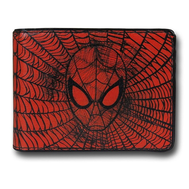 Spider-Man Face Web Bi-Fold Wallet