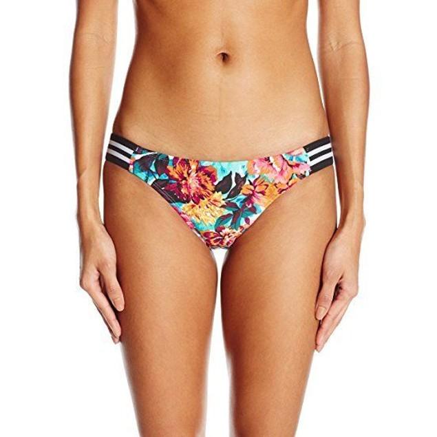 Body Glove Women's Wonderland Flirty Surf Rider Bikini Bottom, Multi,