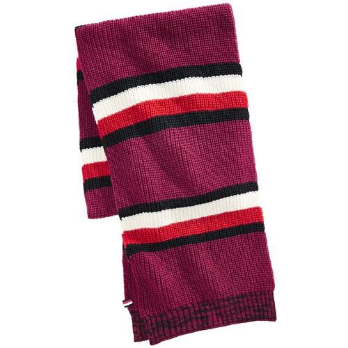 Tommy Hilfiger Men's Back Bay Cardigan-Knit Striped Marled Scarf One Size
