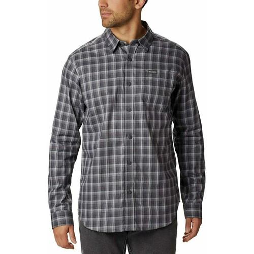 Columbia Men's Vapor Ridge Iii Plaid Shirt Charcoal Size Large