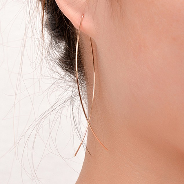 Simple Design Abstract Fish Shape Earrings