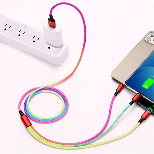3-in-1 Rainbow Charging Cable