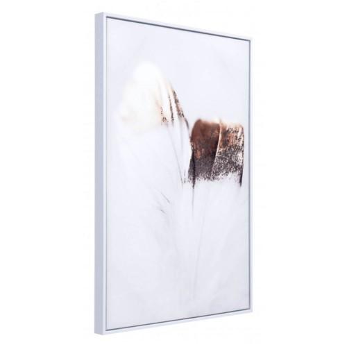 Offex Home Decorative Delicate Feather Canvas - Multicolor