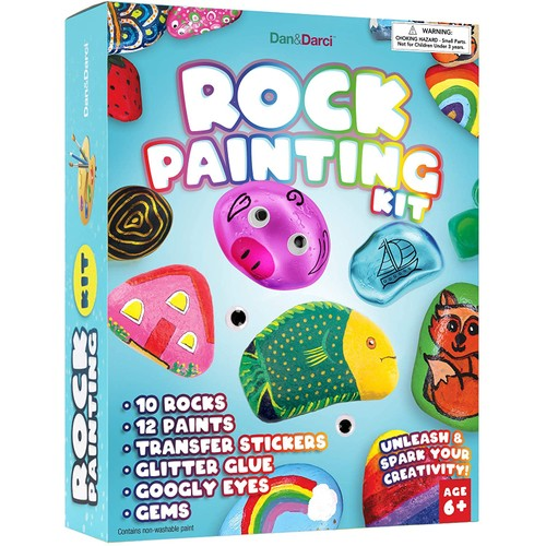 Rock Painting Kit for Kids - Paint Craft for Kids 4-12