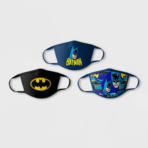 3-Pack: Boys & Girls Licensed Cartoon Reusable Washable Face Masks