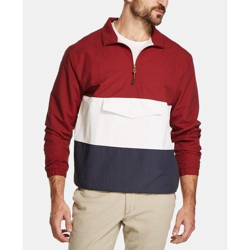 Weatherproof Vintage Men's Colorblocked Anorak Jacket Red Size Extra Large