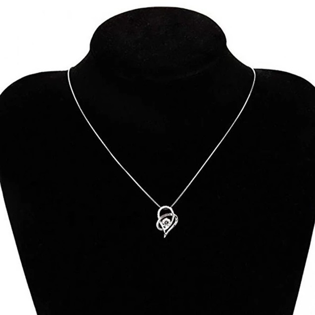 Heart Loop Stone Love Necklace