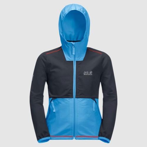 Jack Wolfskin Turbulence Boys PFC Free Softshell Jacket, Size 164, Night
