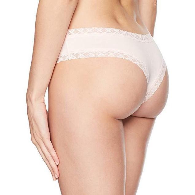 Natori Women's Bliss Cheeky Thong, Blushing Pink, SZ:  M