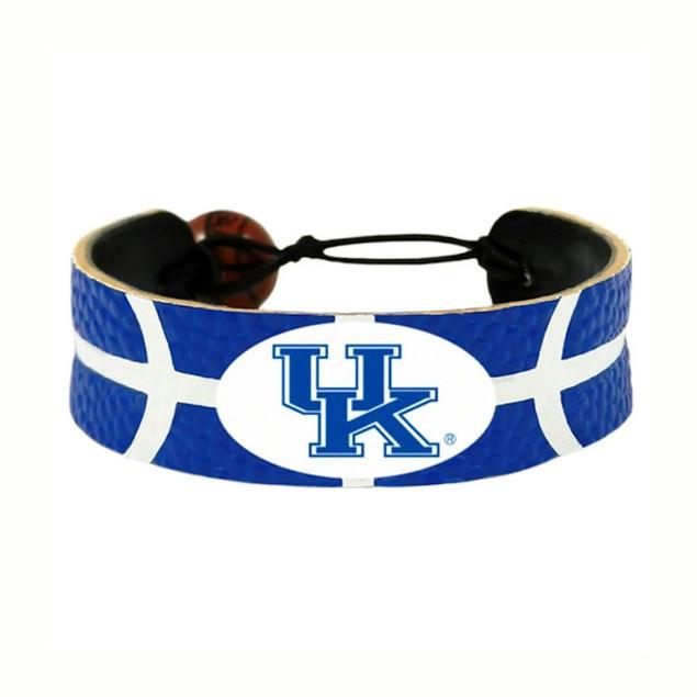 Kentucky Wildcats Team Color NCAA Gamewear Leather Basketball Bracelet