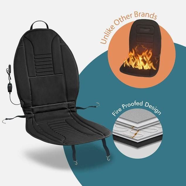 Zone Tech 2x 45 Minute Shut Off Timer 12V Heated Car Seat Chair Cushion