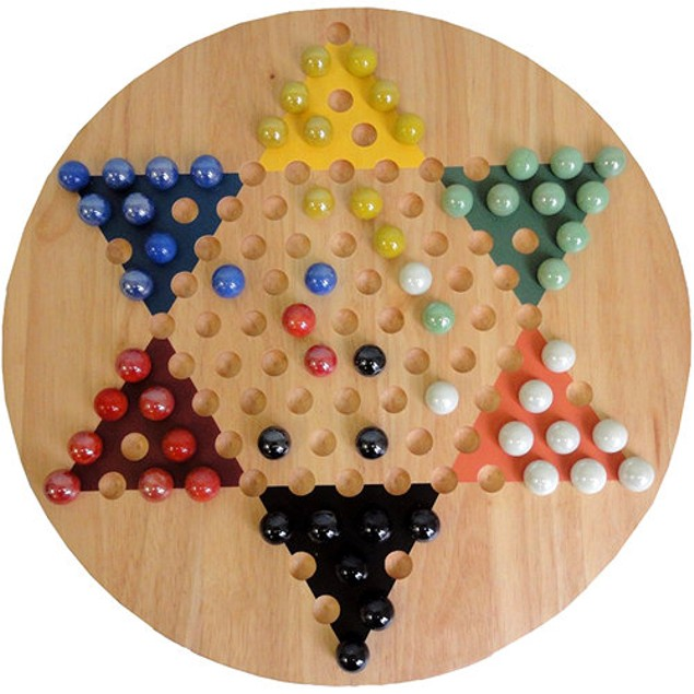 Chinese Checkers Solid Wood Board Game, More Pop Culture by Go! Games