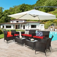 Costway 8PCS Rattan Patio Furniture Set