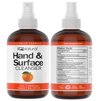 Deals on 4-Pack IQ Natural Hand and Surface Cleaner Spray 8-Oz Bottle