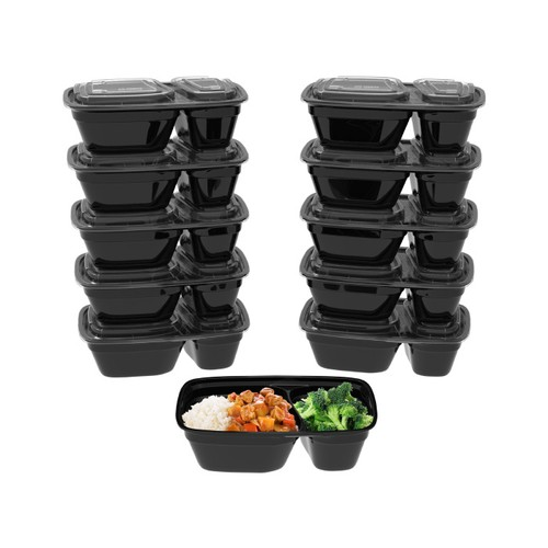 2-Compartment Portion Control Meal Prep Containers