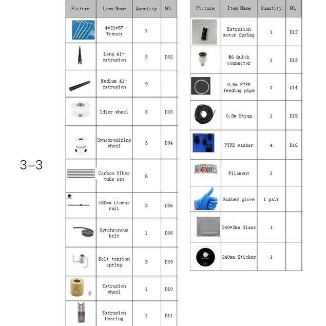 Anycubic Kossel Linear Plus 3D Printer DIY Kits