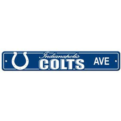 "Indianapolis Colts Ave Street Sign 4""x24"""