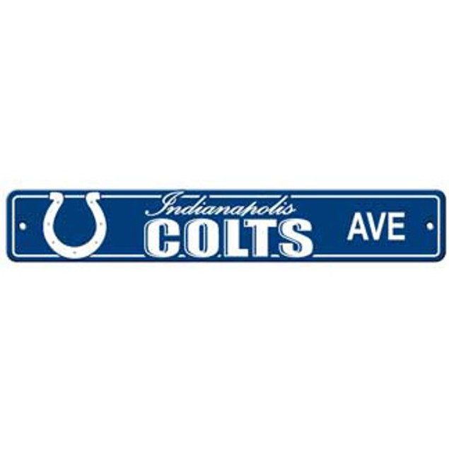 """Indianapolis Colts Ave Street Sign 4""""x24"""""""