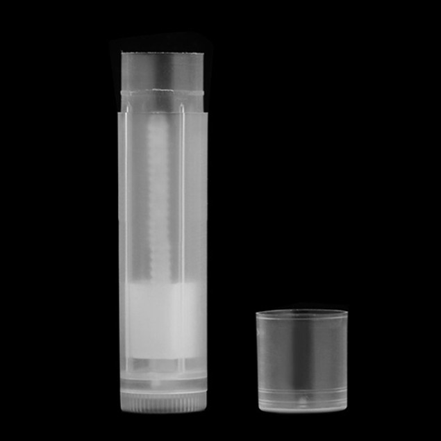 5Pcs DIY Clear Lipstick Lip Balm Twist Bottom Tubes Containers with Caps