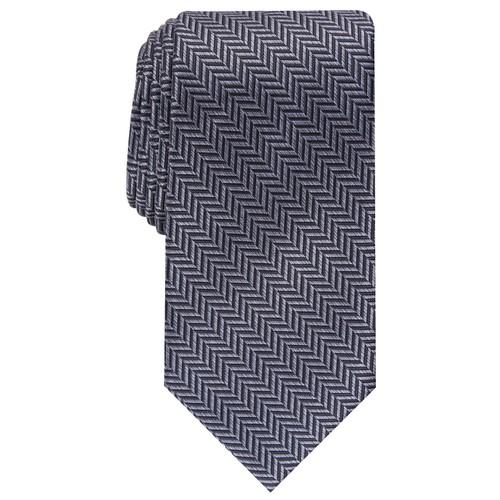 Perry Ellis Men's Savin Herringbone Tie Navy Size Regular