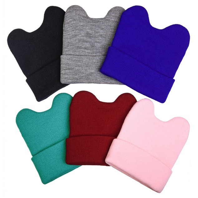 (6 Pack) Kids' Warm and Cute Acrylic Winter Beanies