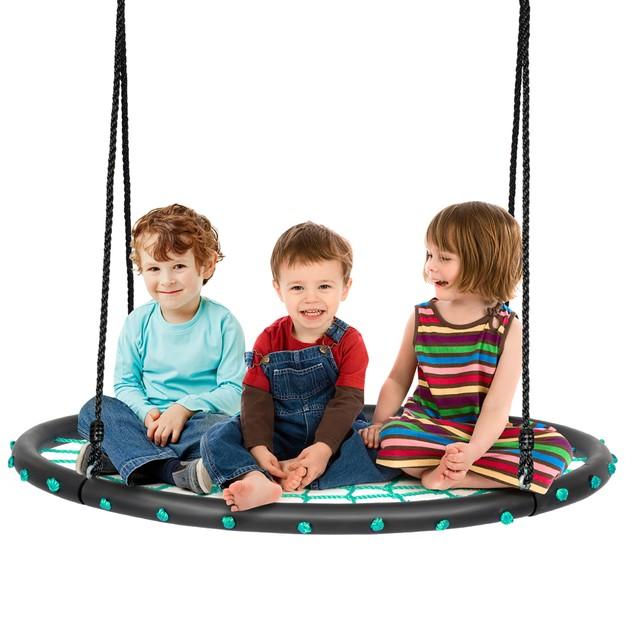40'' Spider Web Tree Swing Set w/ Adjustable Hanging Ropes