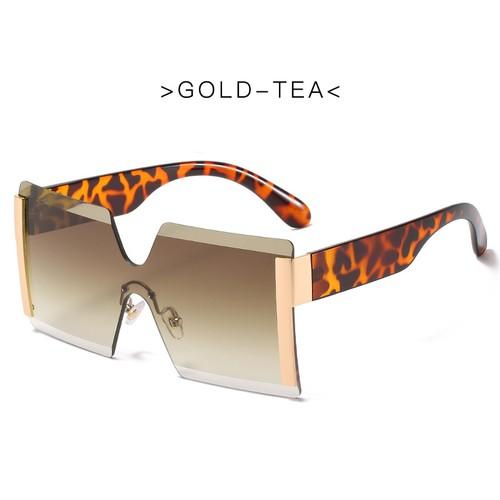 Trendy Frameless One-piece Sunglasses