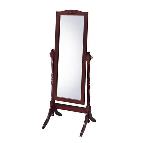 Proman Victoria Home Living room Bedroom Decor Cheval Floor Mirror, Walnut