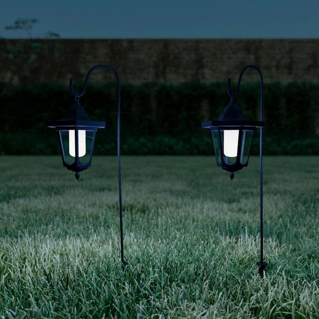 Hanging Solar Coach Lights- 26 in. Outdoor Lighting Hooks  Set of 2