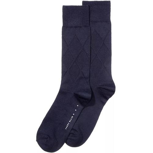 Perry Ellis Men's Socks Cotton Modal Argyle Navy Size Regular