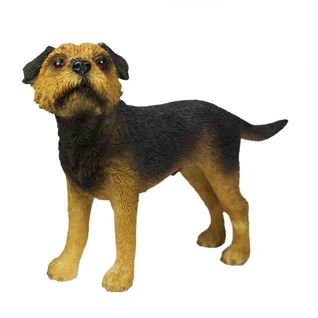Border Terrier Figurine By Lesser and Pavey