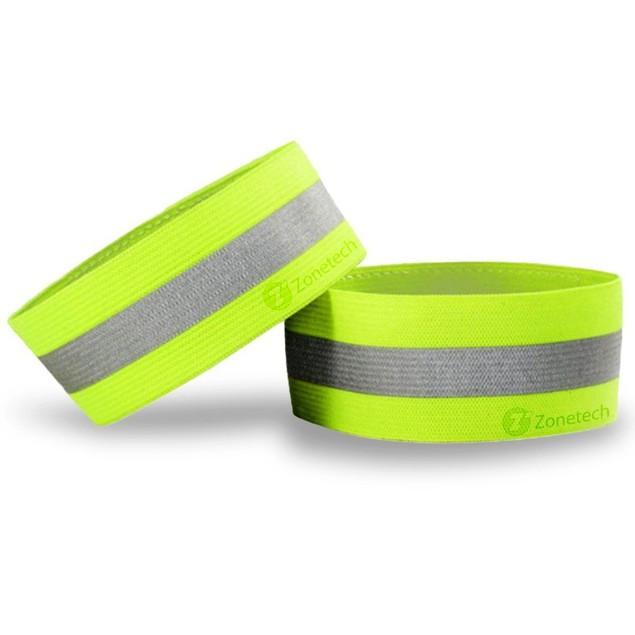 Zone Tech Safety Reflective Arm Band Belt Strap Sports Night Running
