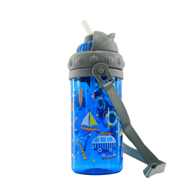Smilykiddos Sipper Water Bottle Blue