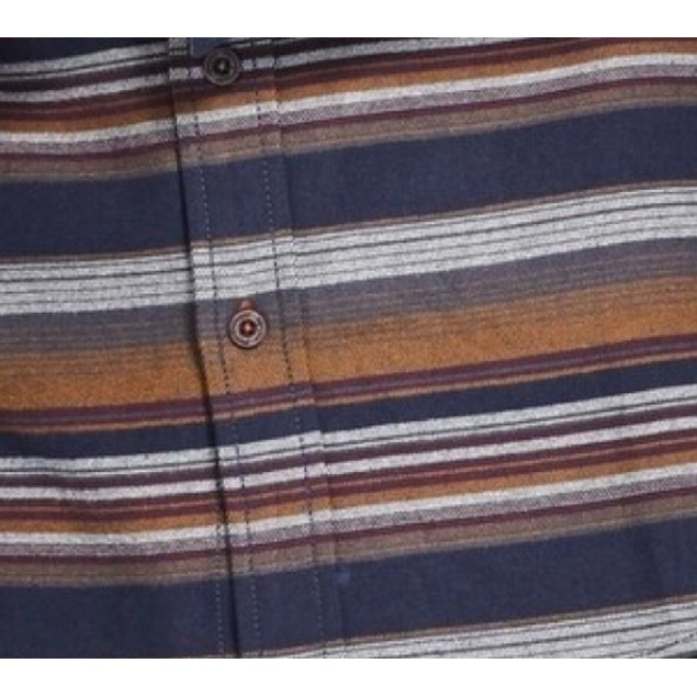 Weatherproof Button Front Striped Pocket Multi 3 Extra Large