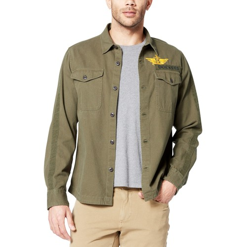 Dockers Men's Military Shirt Jacket Green Size Medium