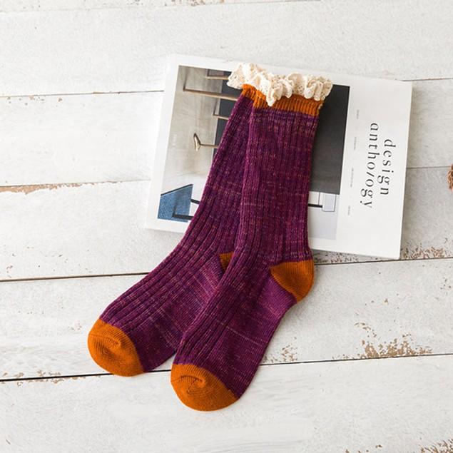 Womens Cashmere Wool Thick Warm Socks Winter Fashion Socks