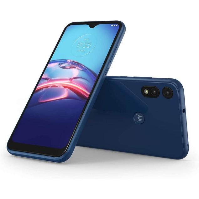 Motorola Moto E (2020), Metro, Blue, 32 GB, 6.2 in Screen