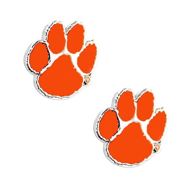 Clemson Tigers Post Stud Earring NCAA Charm Set