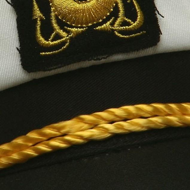 Yacht Captain Child Hat Costume Adjustable White Cap Sailor Boys Youth Kids