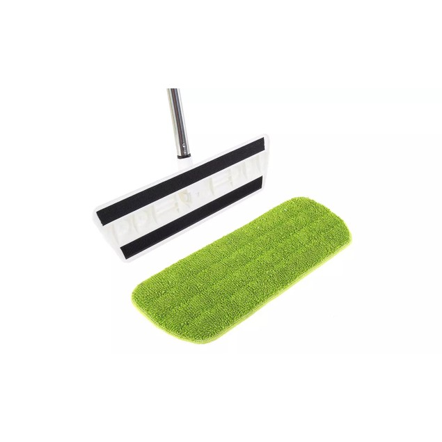 Wet or Dry Flat Mop with Reusable Microfiber Cloth