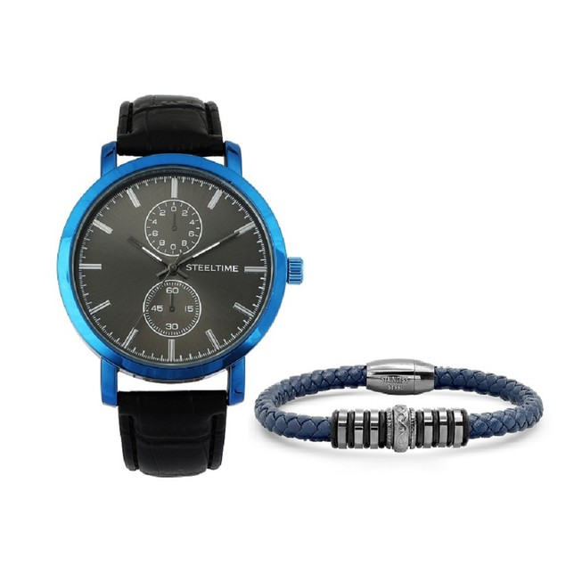 Bracelet & Watch Set Paired W/ Bracelet With Stainless Steel Bead
