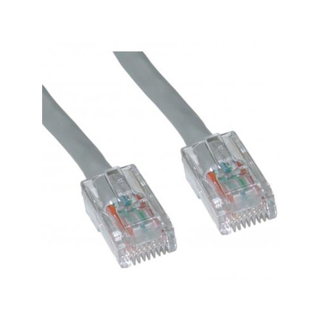 Cat5e Gray Ethernet Patch Cable, Bootless, 3 foot