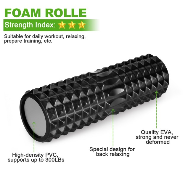 18'' Foam Roller Kit with Muscle Roller Stick and Massage Balls