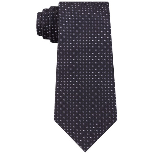 Kenneth Cole Reaction Men's Microchip Slim Geo Tie Black Size Regular