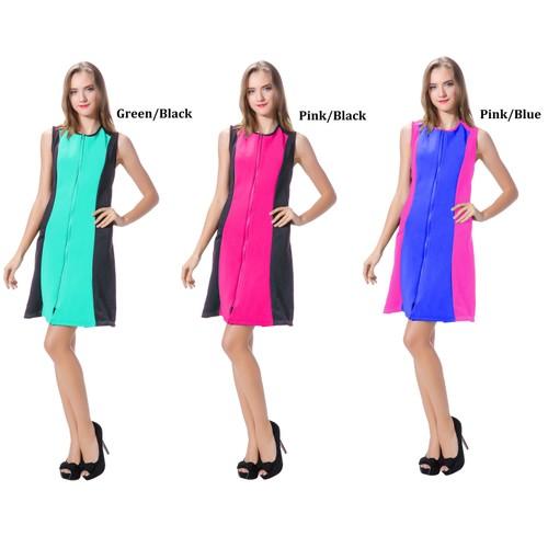 Women's beautiful Sleeveless Evening Scuba Sheath dress