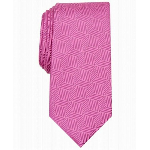 Alfani Men's Geometric Tie Pink Size Regular
