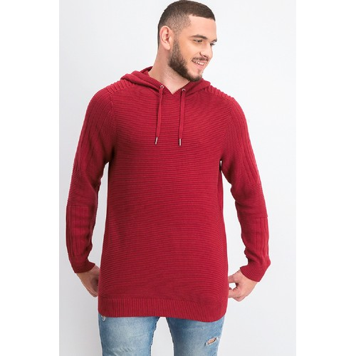INC International Concepts Men's Hooded Sweater Red Size 2 Extra Large