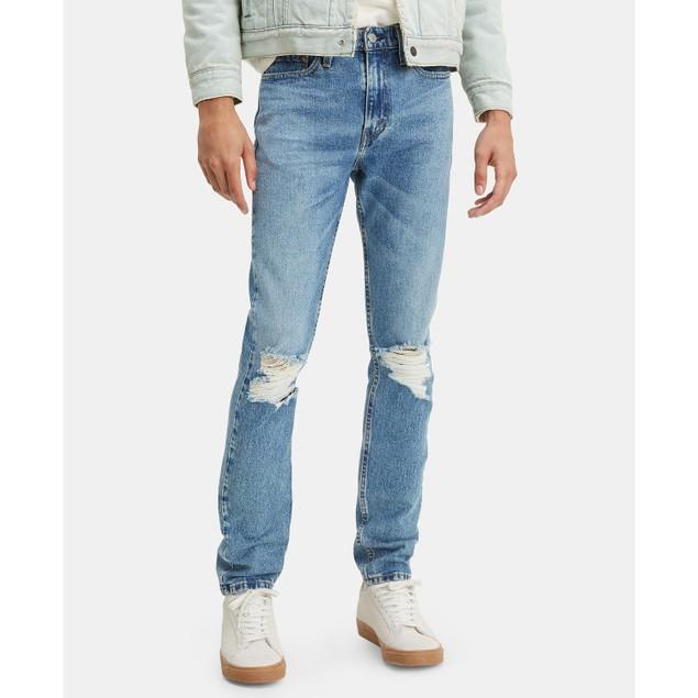 Levi's Men's 510 Ripped-Knee Skinny Jeans Blue Size 33X32