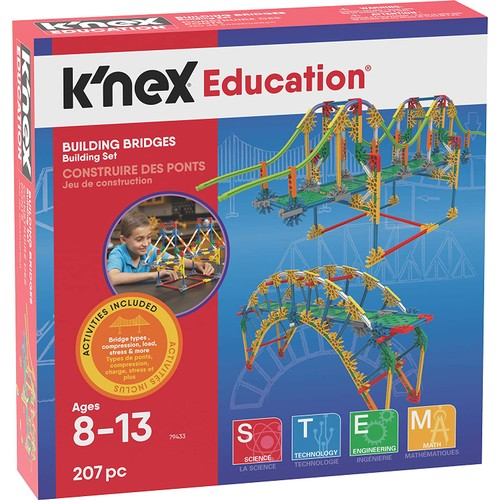 K'NEX Bridges Ages 8+ Construction Education Toy Building Sets (207 Piece)