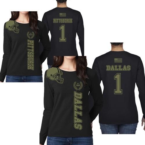Women's Football Salute Long Sleeve Shirts
